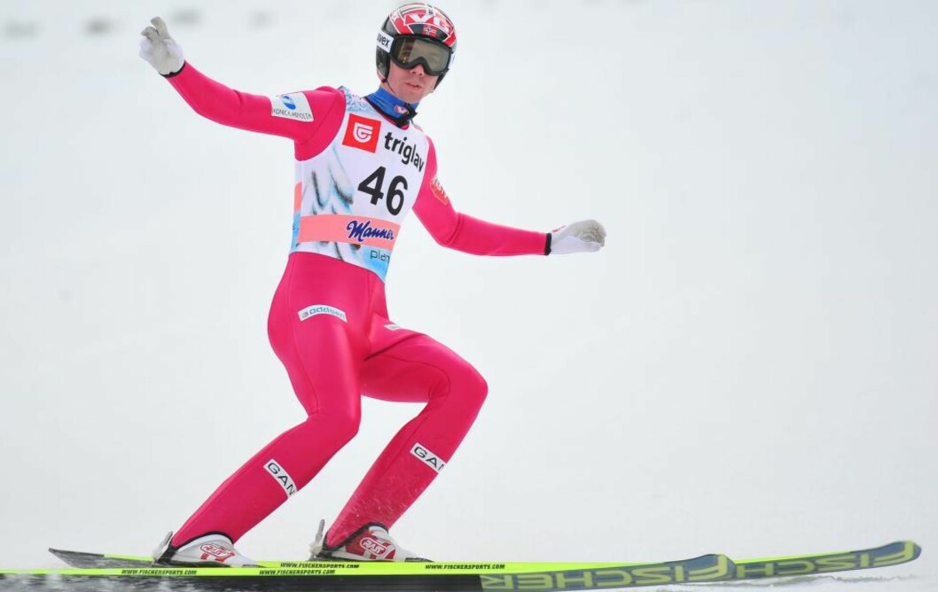 <strong>BÆREBJELKE:</strong> Anders Bardal blir den største stjernen av de seks hopperne som er tatt ut til det norske landslaget for neste sesong. Foto: AFP PHOTO / JURE MAKOVEC / NTB Scanpix