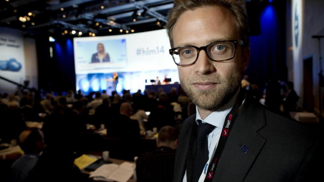 <strong>SLÅR TILBAKE:</strong> Høyres parlamentariske nestleder Nikolai Astrup går i rette med Rasmus Hansson og MDG. Foto: Tomm W. Christiansen / Dagbladet