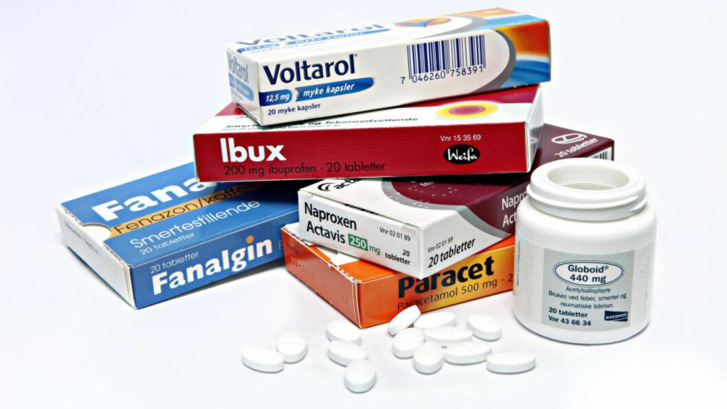 <strong>ØKT FORBRUK:</strong> I gjennomsnitt tar vi 10 smertestillende piller paracetamol og ibuprofen hver måned. Foto: LARS EIVIND BONES