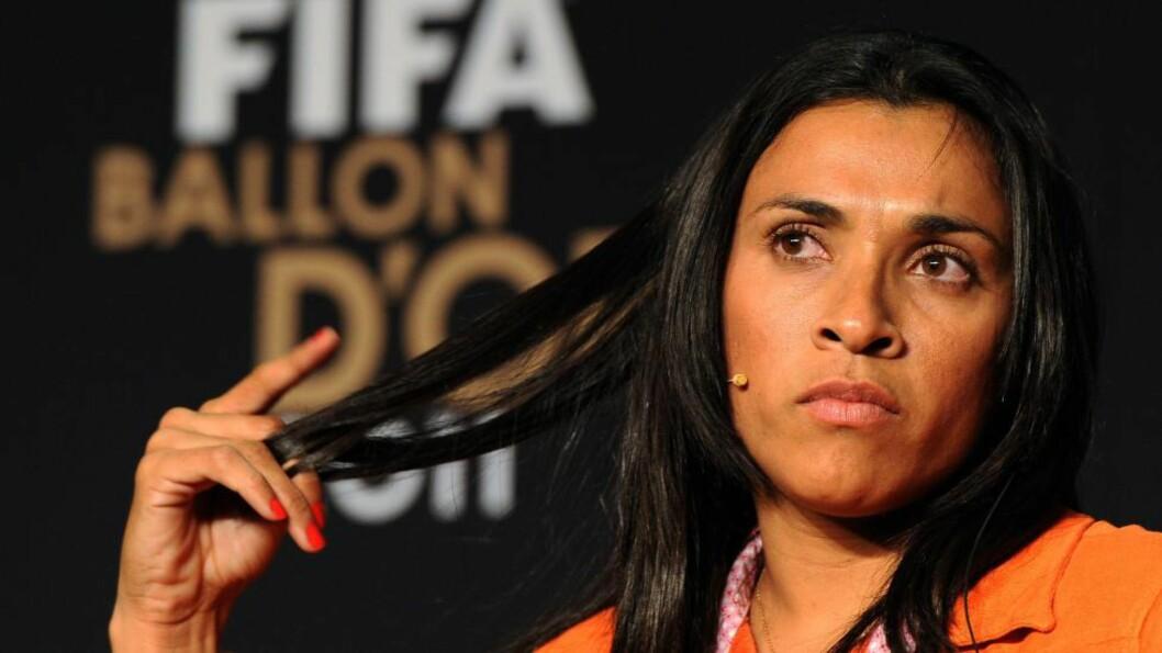 <strong>ÉN SISTE KAMP:</strong> Brasilianske Marta skal spille mesterligafinalen for Tyresö, men så er det slutt. Den svenske toppklubben er konkurs og må begynne på nytt etter finalen.Foto: AFP / FRANCK FIFE / NTB Scanpix