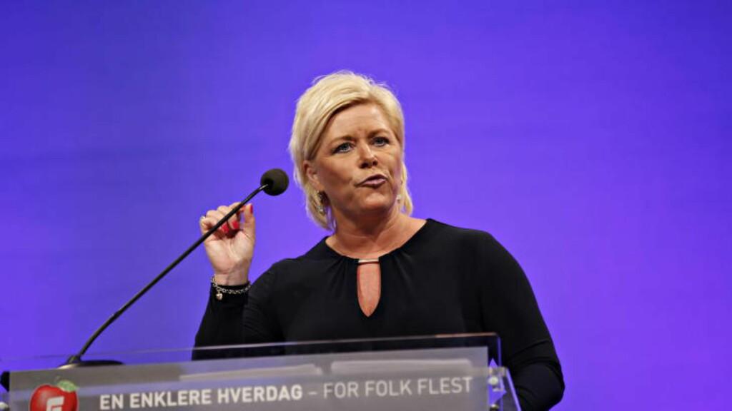 SIV DEN SJOKKERTE:  Forfatter Torgrim Eggen omtalte Fremskrittspartiets leder også som «sinnamennenes dronning».Foto: Jacques Hvistendahl / Dagbladet