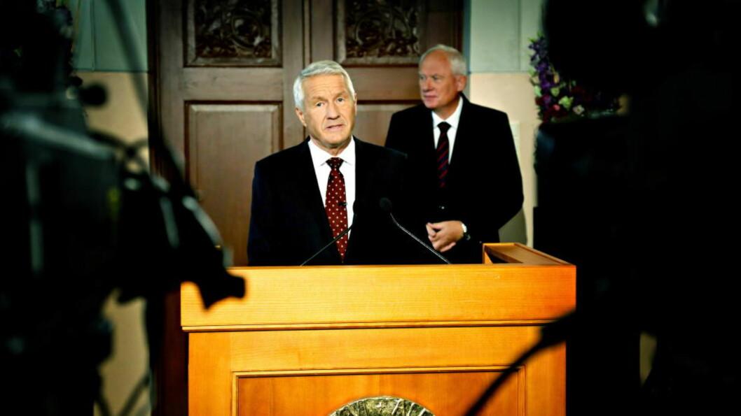 <strong>Nobelkomitéleder:</strong> . Thorbjørn Jagland kunngjør at OFKV  får Nobels fredspris for 20213. Foto: Jacques Hvistendahl / Dagbladet