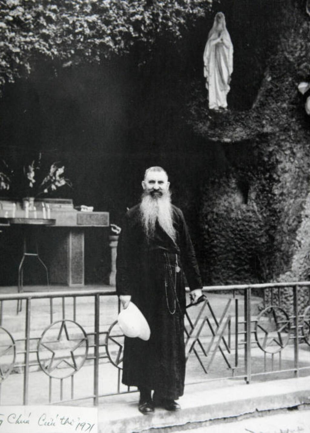 DREV BARNEHJEMMET: Den franskkanadiske presten Lucien Olivier (1904-87) drev en rekke barnehjem i og rundt Saigon, deriblant mitt. Foto: Privat