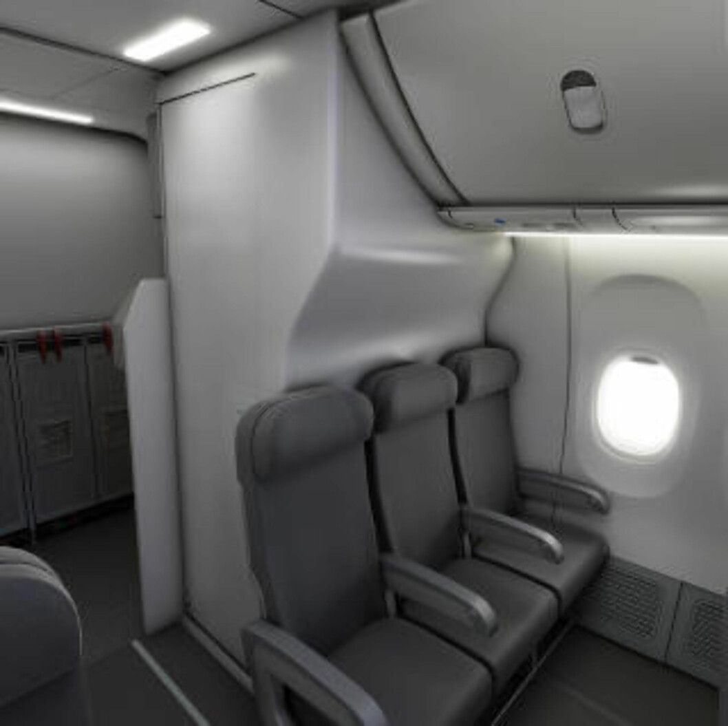 <strong>PLASS TIL FLERE:</strong> Med smalere do, blir det plass til flere seter ... Med denne innovasjonen skal dette kunne la seg gjøre uten at det blir trangere på do, og uten at det blir trangere i kabinen ... Foto: BE AEROSPACE