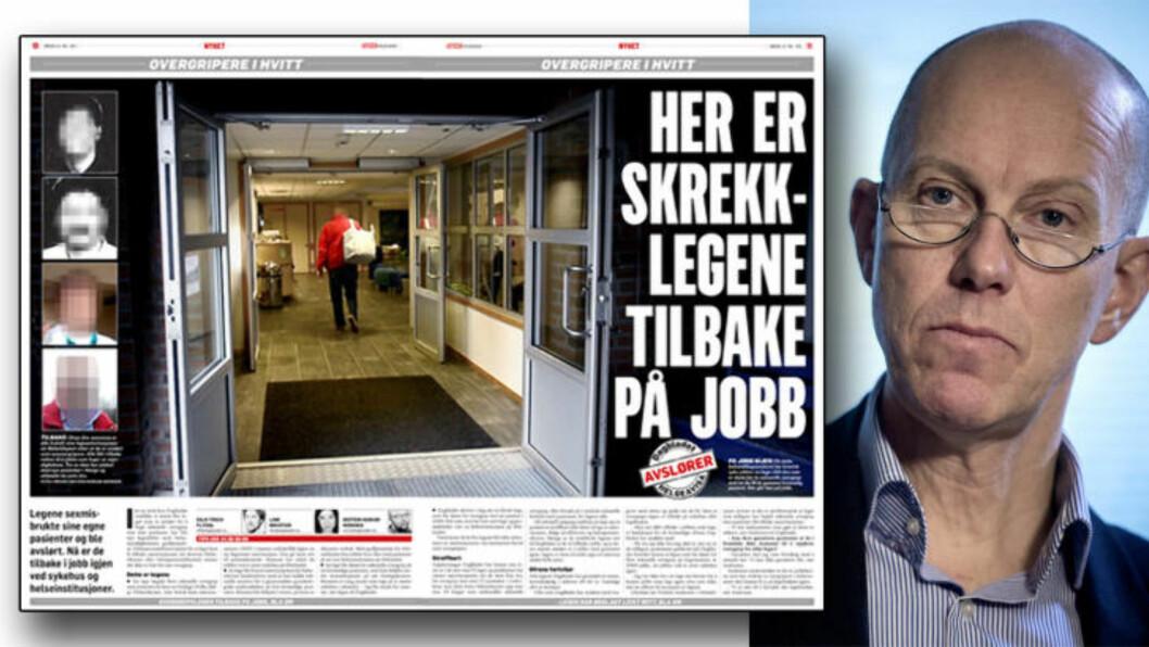 <strong>GA NYE LEGEAUTORISASJONER:</strong> Helsetilsynet, her ved direktør Jan-Fredrik Andresen, har gitt flere leger tilbake autorisasjonene sine, etter at de først mistet dem for seksuelle overgrep. Helspersonelloven vedtatt av Stortinget gir denne muligheten. Foto: Øistein Norum Monsen/Dagbladet