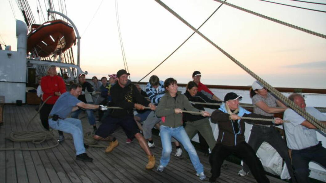 <strong> «STATSRAAD LEHMKUHL»:</strong>  Mange tusen blir med som medseilere på sommertokt eller Tall Ships Race. Foto: KIRSTEN MARGRETHE BUZZI