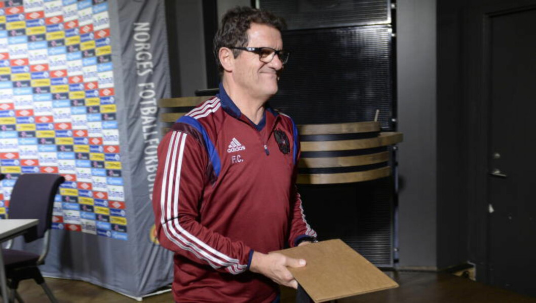 <strong>SMILENDE, MEN BESTEMT:</strong>  Fabio Capello.