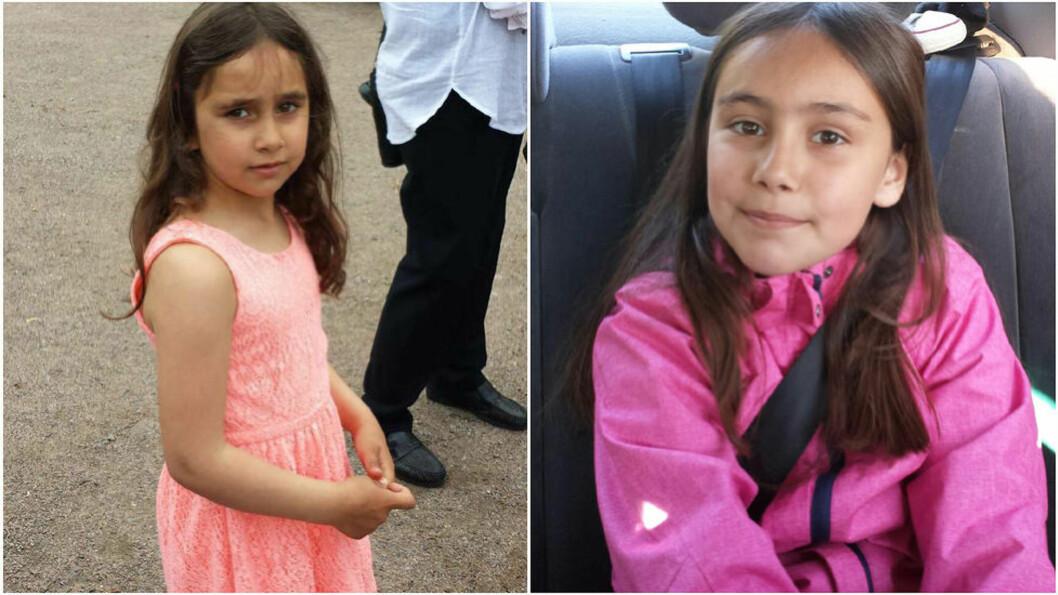 <strong> FORTSATT SAVNET:</strong>  I går ettermiddag ble søstrene Rajana (6) og Somaja (8) bortført av sin far og hjelpere da de gikk av skolebussen om lag 15 kilometer fra Kongsvinger. Foto: Privat/Politiet.