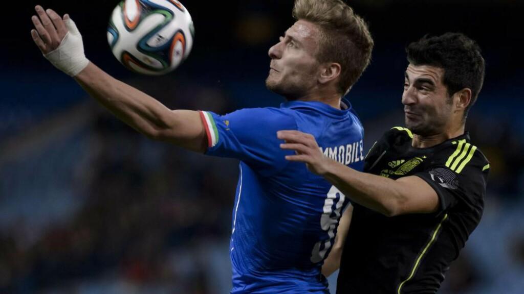 Serie A-toppscorer: Ingen scoret flere mål i Serie A denne sesongen enn Torino-spissen Ciro Immobile. Kan han score mest også i VM? Da får du 75 ganger innsatsen tilbake på oddsen. Foto: AFP PHOTO / DANI POZO.