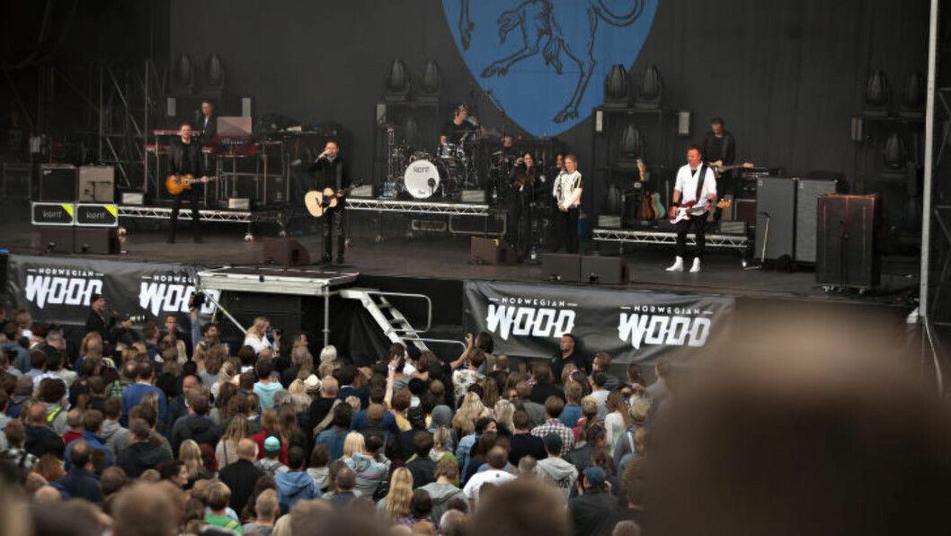 <strong>TOK TID:</strong> Ingern hender i været den første halvdelen av konserten, men den tok seg opp. Foto: Anders Grønneberg