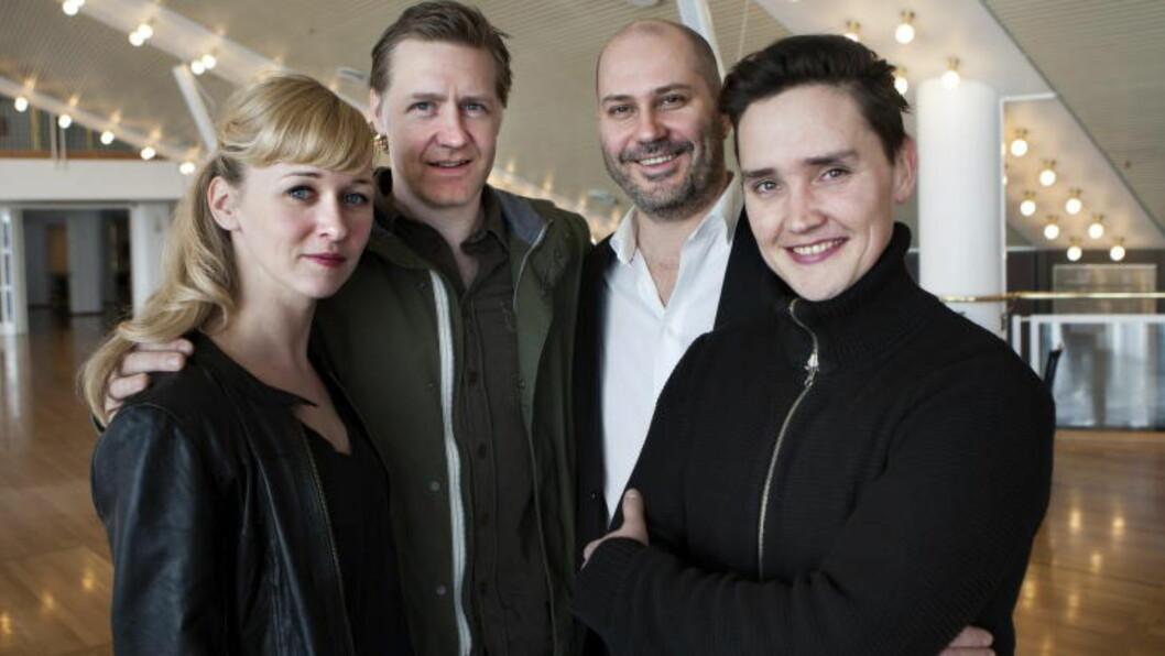 <strong>ÅRETS GJENG PÅ GÅLÅ:</strong>  Maria Blokhus, Mads Ousdal, Erik Ulfsby og Frank Kjosås. Foto: Anders Grønneberg