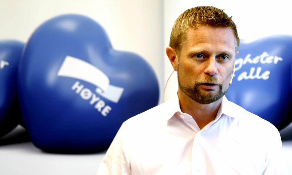 <strong>UTFORDRES:</strong> Helseminister Bent Høie utfordres av Forbrukerrådet. Foto: Lise Åserud / NTB Scanpix