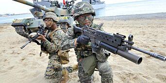 image: Militærøvelser har startet i Sør-Korea