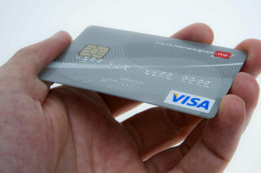 Alle kredittkort har 16 siffer for kortets forside, men visste du hvilken informasjon som ligger gjemt inni tallene? Foto: Per Ervland