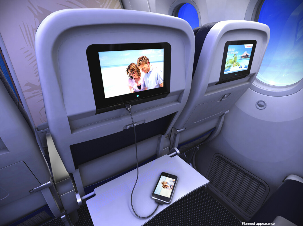 Slik er interiøret i de nye charterflyene tenkt å se ut. Foto: Thomson