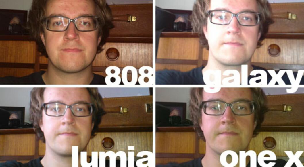 <strong>KLAR VINNER:</strong> Nokia PureView 808 tar det klart beste bildet med blitz i vår test. Man får ikke den utblåste effekten billigere mobiler ofte gir. Foto: Ole Petter Baugerød Stokke