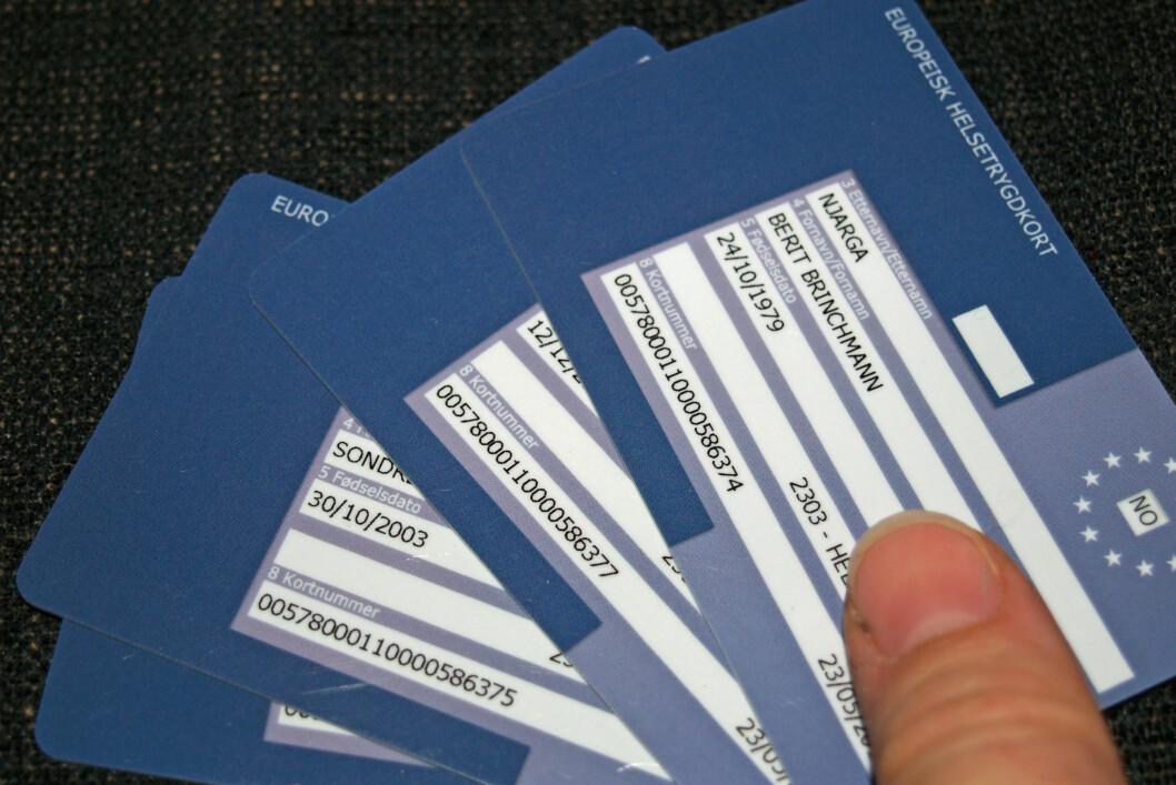 Husk at hvert familiemedlem må ha sitt eget helsetrygdkort.       Foto: BERIT B. NJARGA