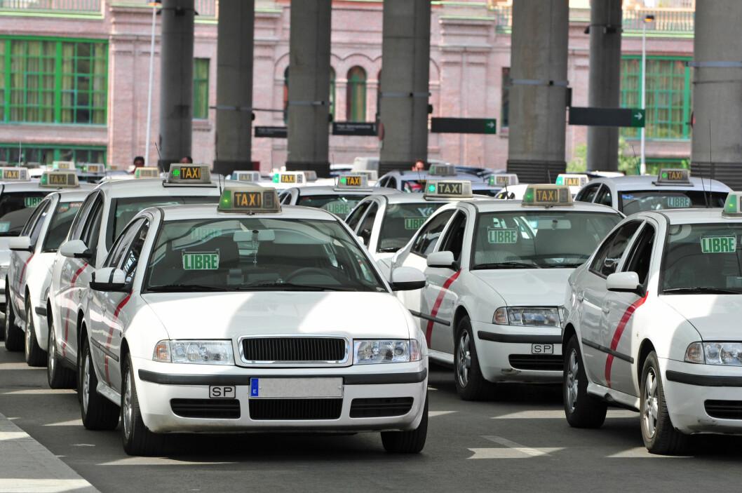 Madrid er en av byene som kommer dårlig ut i den europeiske taxiundersøkelsen. Foto: Alloverpress