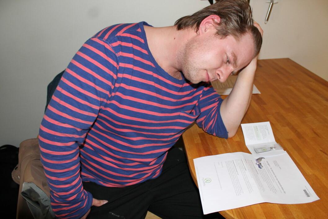 Anders Søberg liker ikke å få pakker han ikke har bestilt. Spesielt ikke når de på sikt vil koste penger. Foto: Jørgen Skaug Jensen