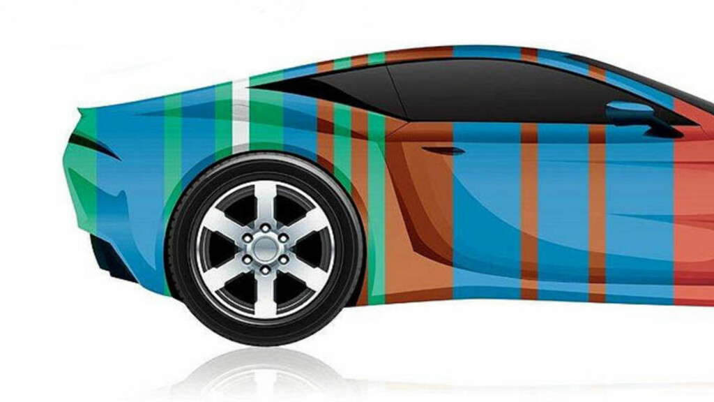 FOR HEFTIG: Vi drømmer kanskje om en rød bil, men fåtallet velger de kraftige fargene. Illustrasjon: AXALTA