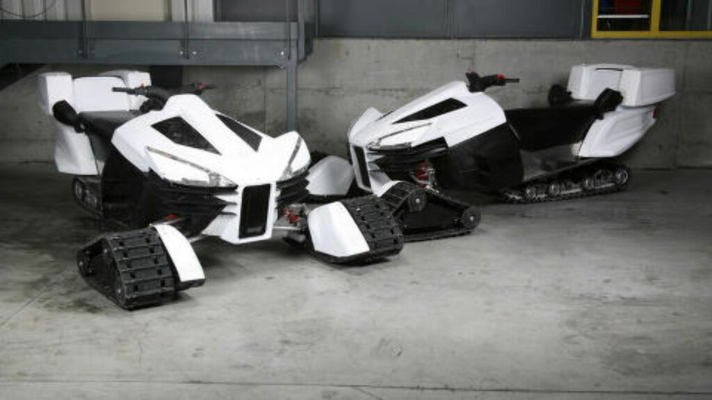 SNØSCOOTER: Motoneige BAD, en svært futuristisk utseende snøscooter. Foto: LAZARETH
