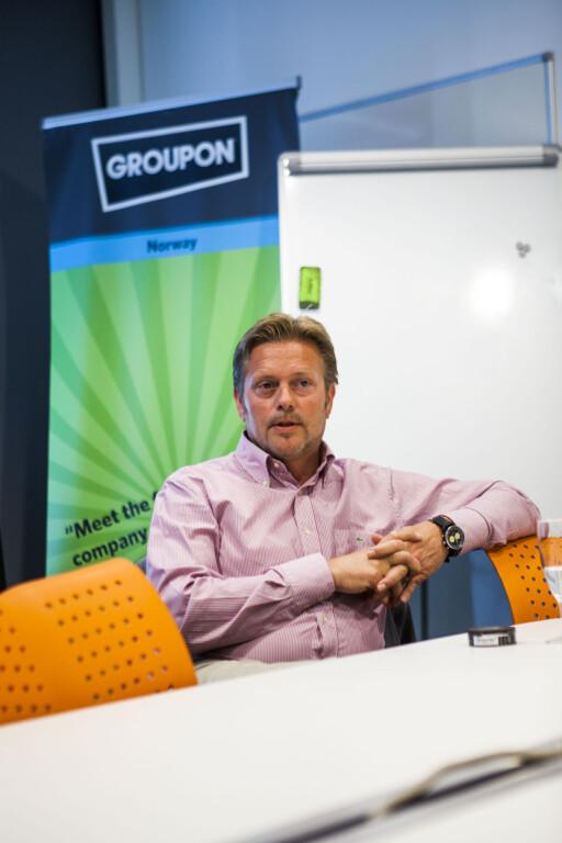 """""""HAPPY"""": Groupon-sjef Bredo Johansen mener de siste månedene har vært """"spennende"""". – Jeg synes ikke det har vært tøft, men utfordrende, sier han.  Foto: Per Ervland"""