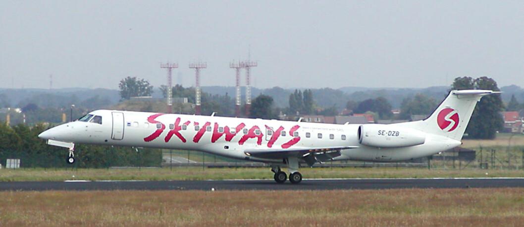 <strong><b>KONKURS:</strong></b> Skyways begjærer seg selv konkurs, og alle flyvninger er stanset med umiddelbar virkning. Foto: Wikimedia