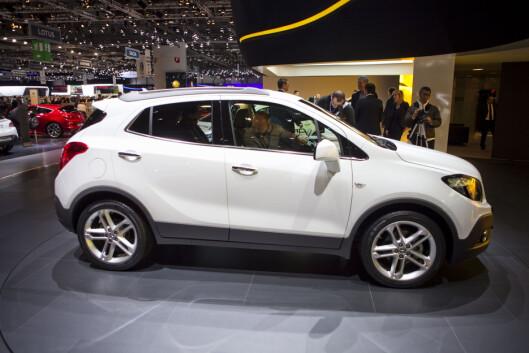 Opel Mokka byr på den samme lille innpakningen som Trax. Foto: Per Ervland