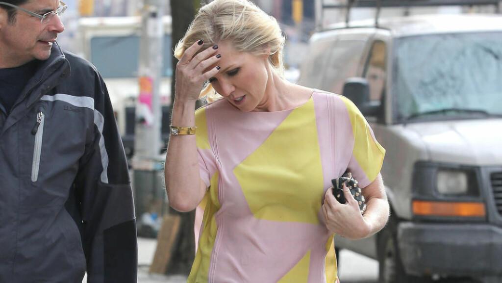 DRAMA: Jennie Garth fra «Beverly Hills 90210» forteller at det var like mye drama bak kamera som foran. Foto: Stella Pictures.