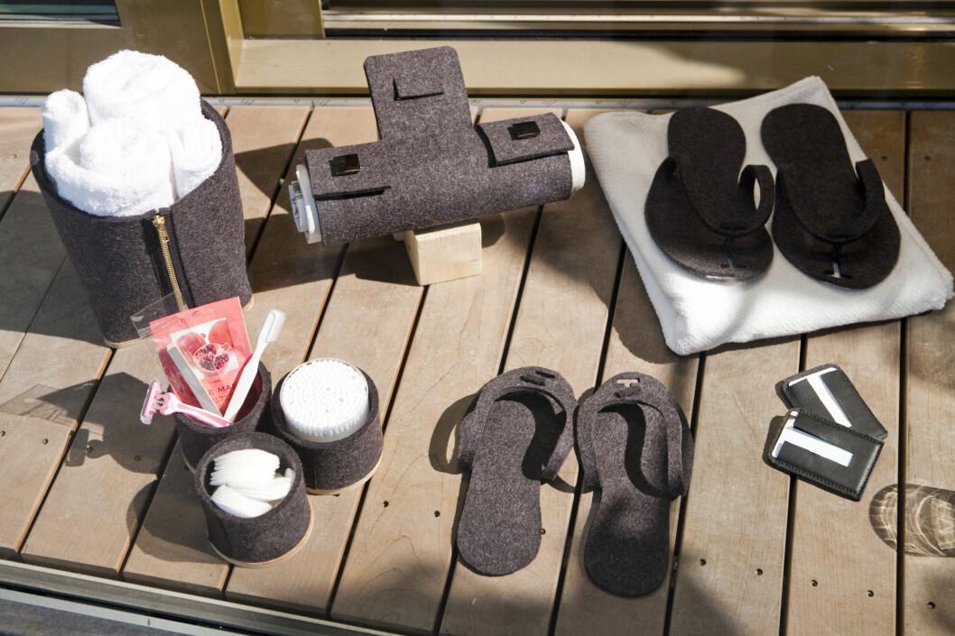 - Gjestene våre vil få med seg et par slippers i en god kvalitet når de har vært på the Thief, det er ikke billige kinesiske masseproduserte, sier Løining til DinSide.  Foto: Per Ervland