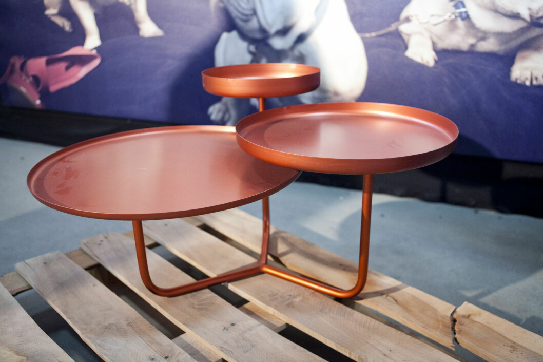 Frøystad+Klock & Øyvind Wyller står bak dette bordet, trippel, som vil bli produsert for the Thief i en bronseutgave. Foto: Per Ervland