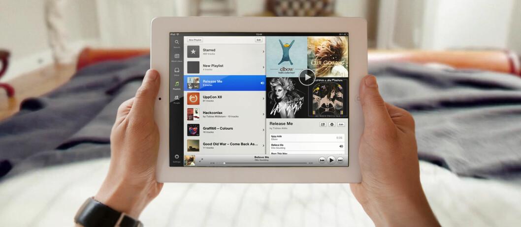 "<strong>""HAR 4G I NORGE"":</strong> Apple mener deres nye iPad 3 støtter 4G i Norge, fordi det støtter HSPA+. Det er Forbrukerombudet sterkt uenig i.  Foto: Spotify"