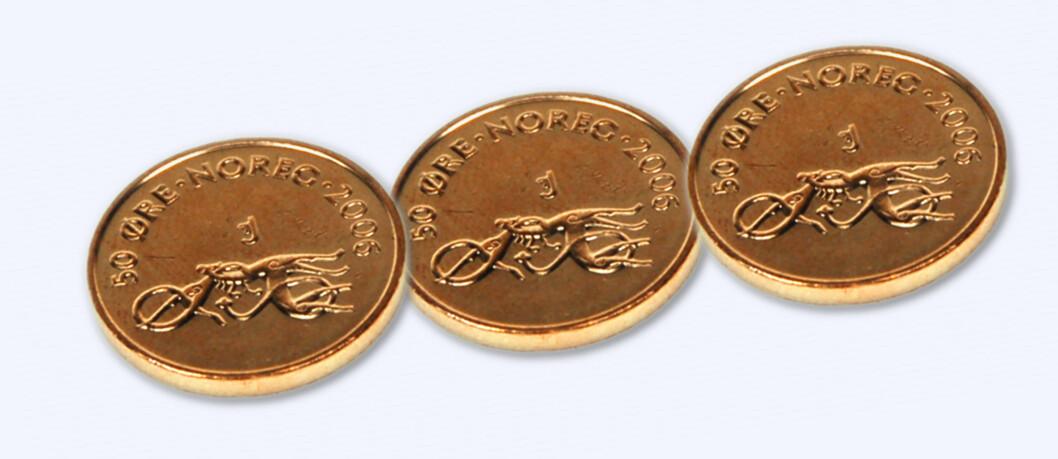 Du bør bruke opp 50-øringene senest 30. april. Etter at de er utgått, kan din lokale bank nekte å veksle dem inn. Foto: Kim Jansson