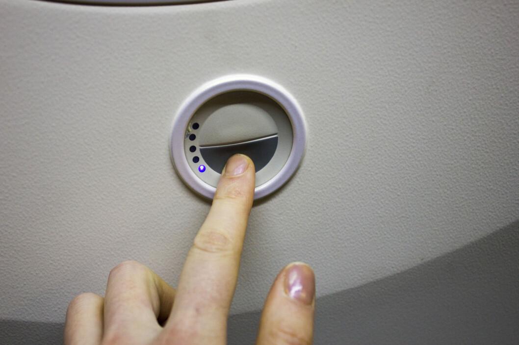 Trykk for å dimme lyset. Foto: Silje Ulveseth