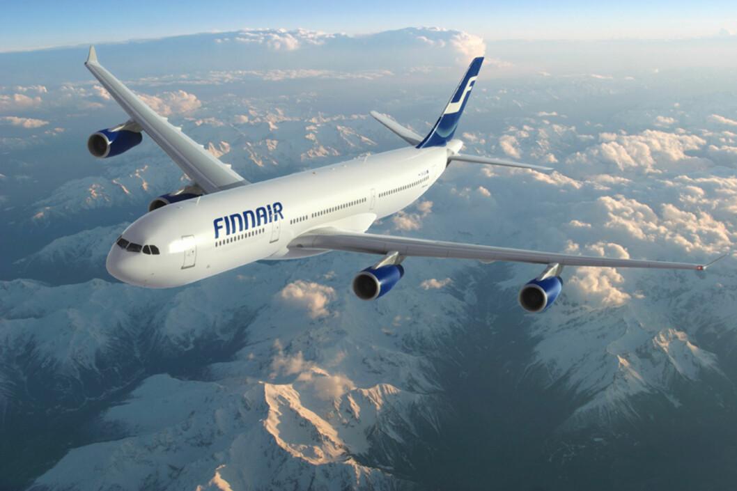 <strong><b>FIRE STJERNER:</strong></b> Finnair er det eneste flyselskapet i Norden som lever opp til fire stjerner. Foto: Finnair