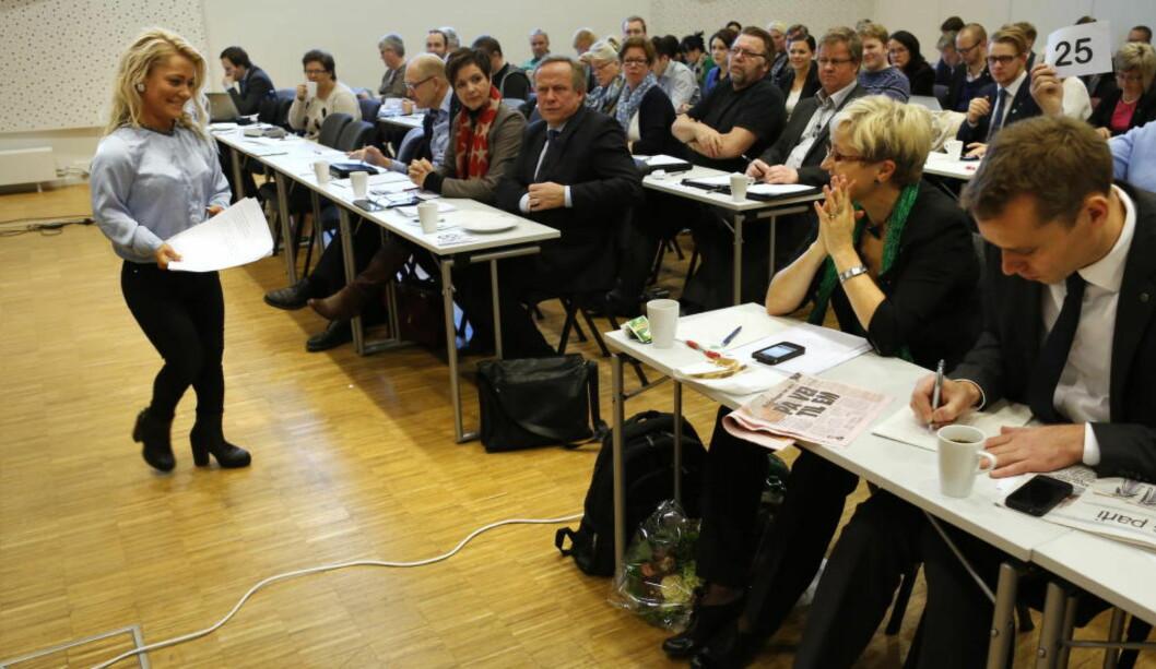 <strong>VIL HA BORTEN MOE:</strong> Tidliger Senterungdommen-leder Sandra Borch har ikke gitt opp kampen på å beholde Ola Borten Moe i Sp-ledelsen.Foto: Erlend Aas / NTB scanpix
