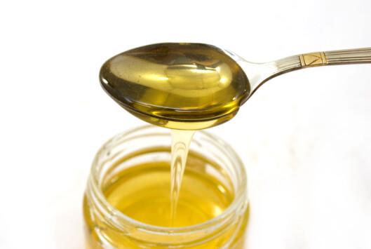 <strong>SØTT TIPS:</strong> Smelt krystallisert honning i mikroen. Foto: Colourbox