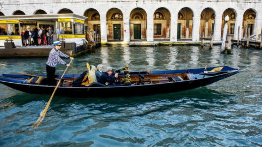 <strong> CANAL GRANDE:</strong>   Venezia er en by bygget på trepåler. Foto: JOHN TERJE PEDERSEN