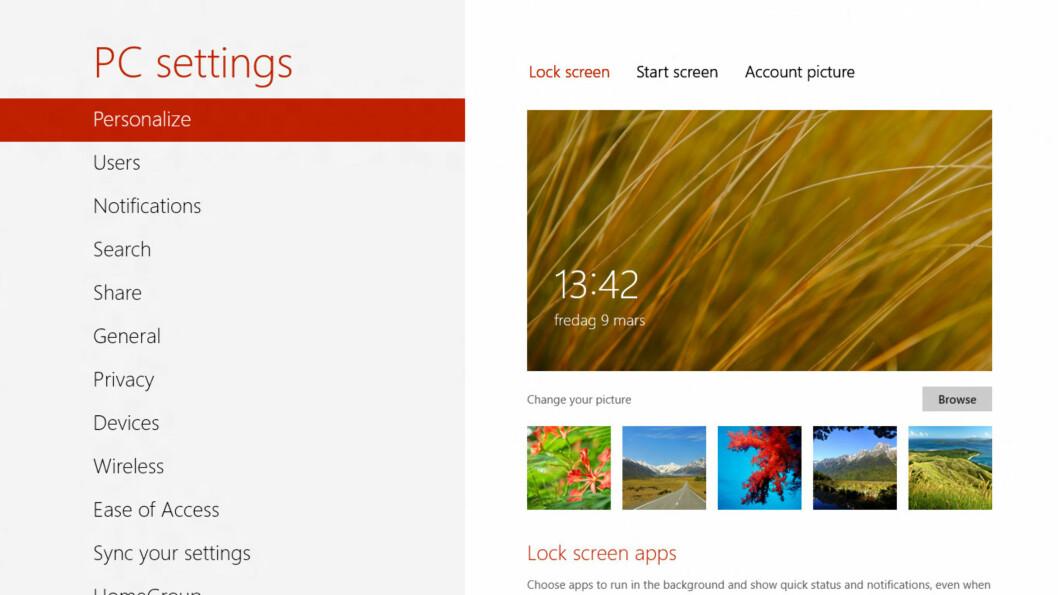 <strong>MORO:</strong> Det har blitt morsomt å bruke Windows igjen. Noe så kjedelig som innstillinger ser nå ut som en drøm.  Foto: Ole Petter Baugerød Stokke