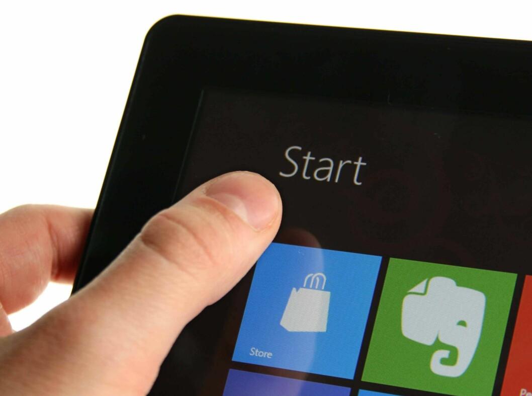 <strong>NY START:</strong> Windows 8 på nettbrett kan være det Microsoft trenger for å komme seg inn i nettbrett-markedet.  Foto: Ole Petter Baugerød Stokke