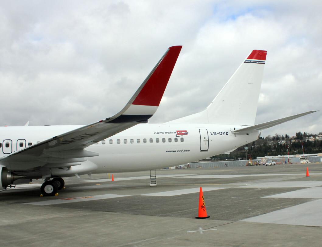Flyet kommer uten ansikt på halen, noe Norwegian selv ordner i Oslo. Foto: Silje Ulveseth