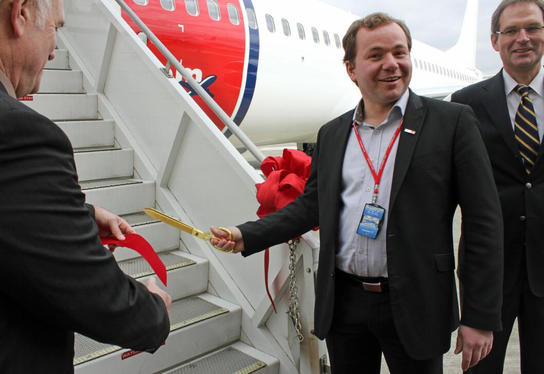 Tada! Og flyet er herved åpnet. Foto: Silje Ulveseth