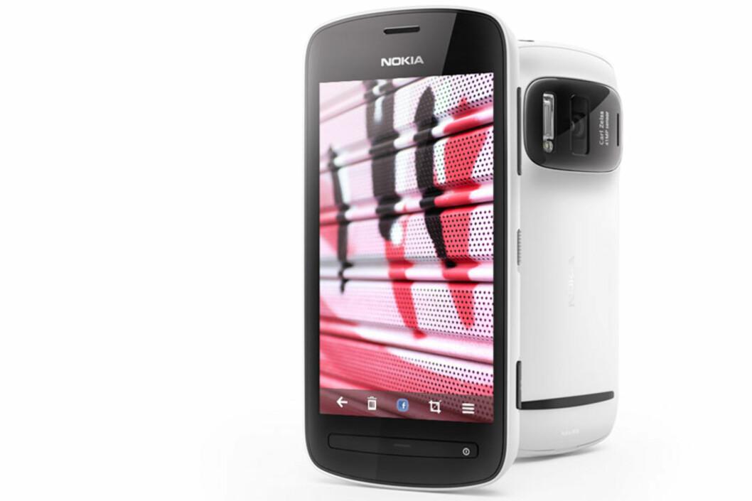 <strong>EKSTREMT:</strong> Denne mobilen, Nokia 808 PureView, har 41 megapiksler kamera. Smak litt på den.  Foto: Nokia