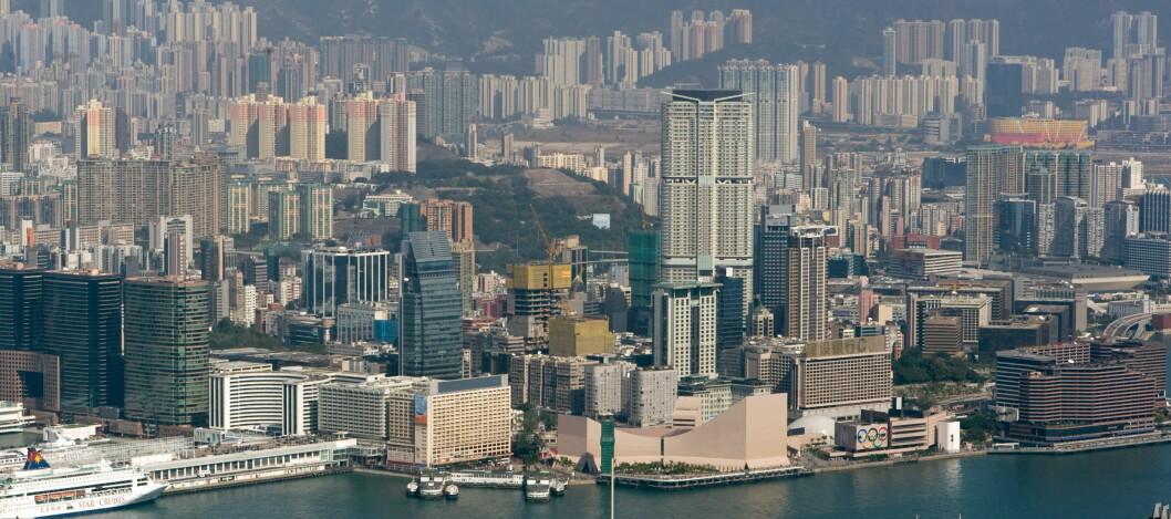 <strong><b>DEN BESTE GRATISOPPLEVELSEN I HONG KONG:</strong></b> Det er gratis å ta seg en gåtur langs vannkanten av Tsim Sha Tsui. Foto: Wikimedia