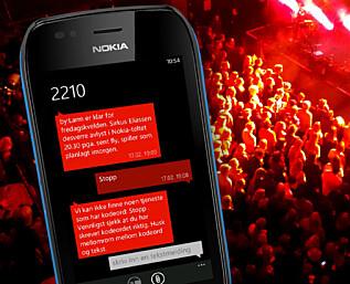 Du kan få SMS-er gjennom Billettservice