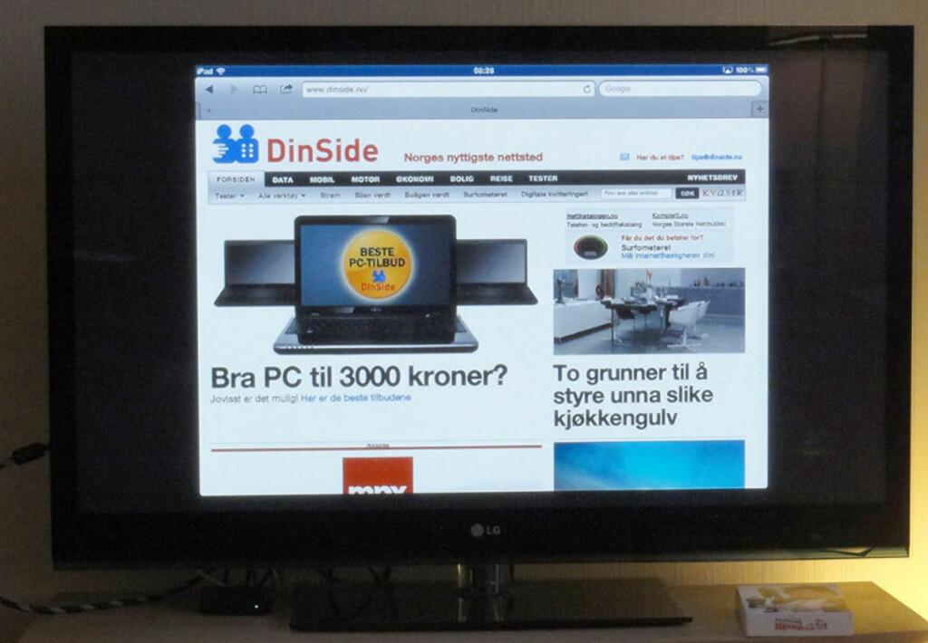 Vis iPad på TV - trådløst - DinSide