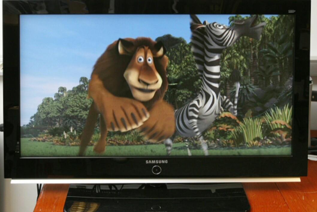 Her ser du Samsung 40M71 fra 2007, en TV som da hadde en veiledende pris på 20.000 kroner.  Foto: Øyvind P