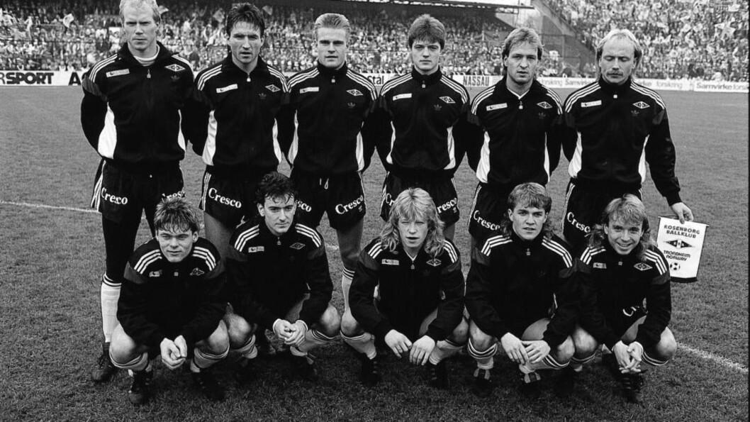 <strong>GAMLE HELTER:</strong> Disse gutta vant NM for Rosenborg i 1988. Kjenner du igjen noen av gutta på bildet? I quizen under kan du teste deg mer om Tippeligaen.Arkivfoto: NTB Scanpix