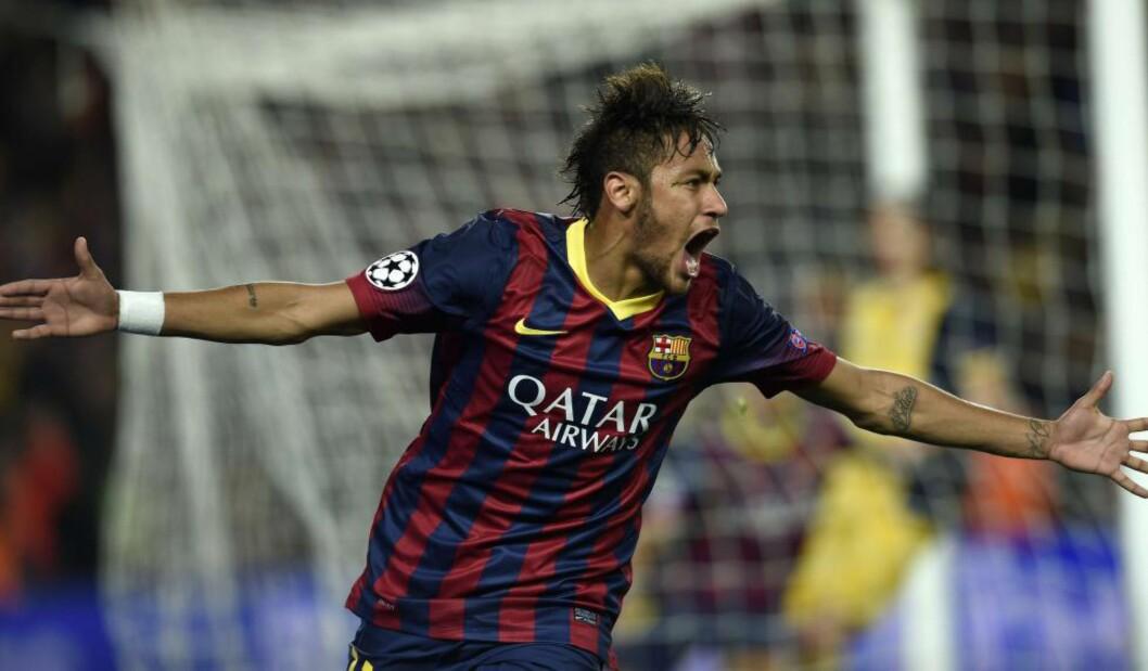 <strong>STORSIGNERING:</strong> Brasilianske Neymar var Barcelonas store signering sist sommer. Og den siste storsigneringen på en stund. Klubben får ikke kjøpe nye spillere før sommeren 2015, melder Fifa i dag. Foto: Lluis Gene, AFP / NTB Scanpix