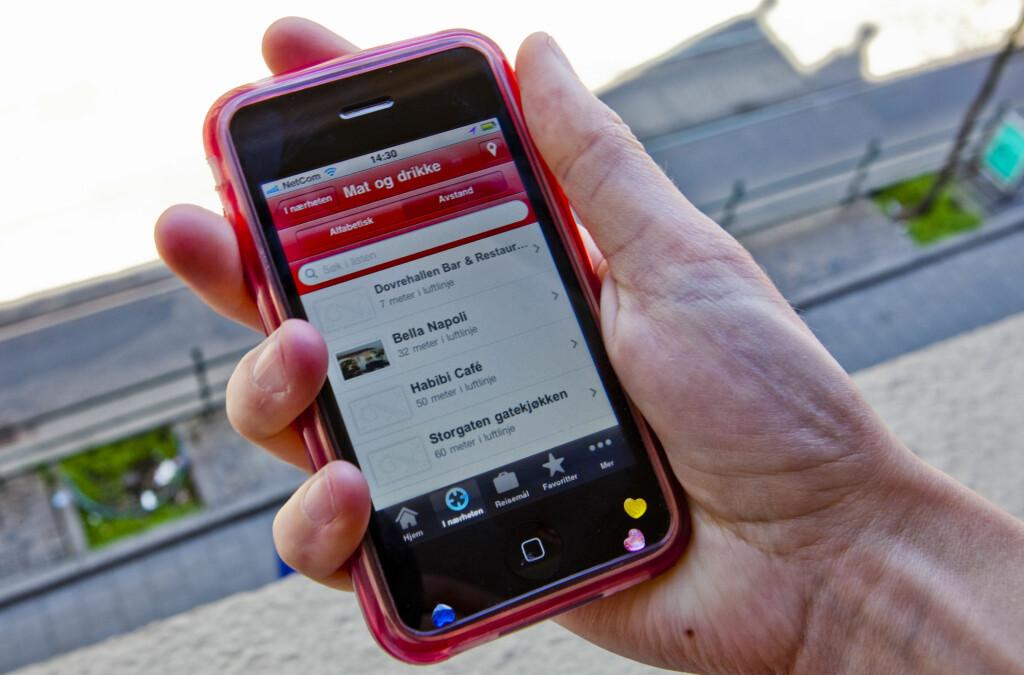 <b>SULTEN PÅ NORSK MAT?</b> Visit Norway-appen gir deg tips til gode spisesteder. Foto: Per Ervland